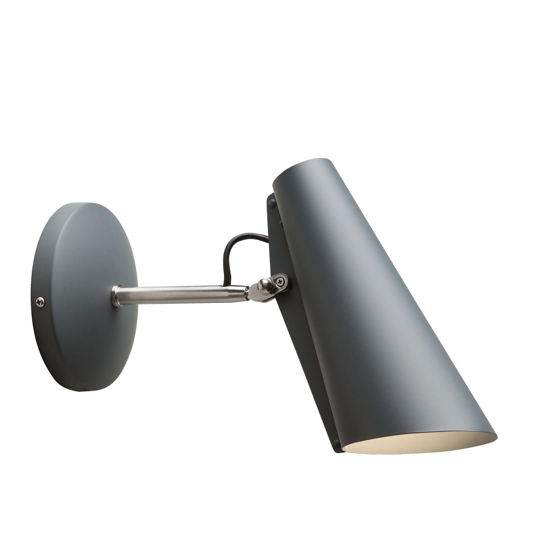 Birdy wandlamp Northern klein grijs
