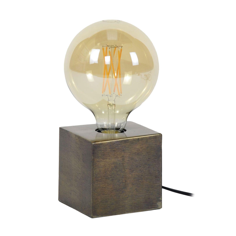 Block tafellamp Kay brons