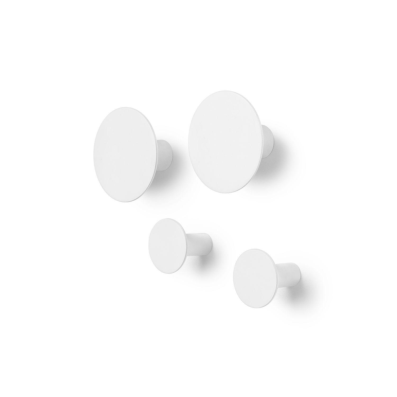 Ponto wandhaak Blomus set van 4 - wit