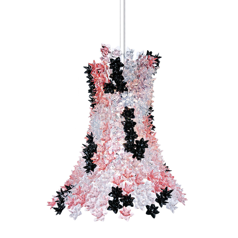 Bloom hanglamp Kartell roze zwart