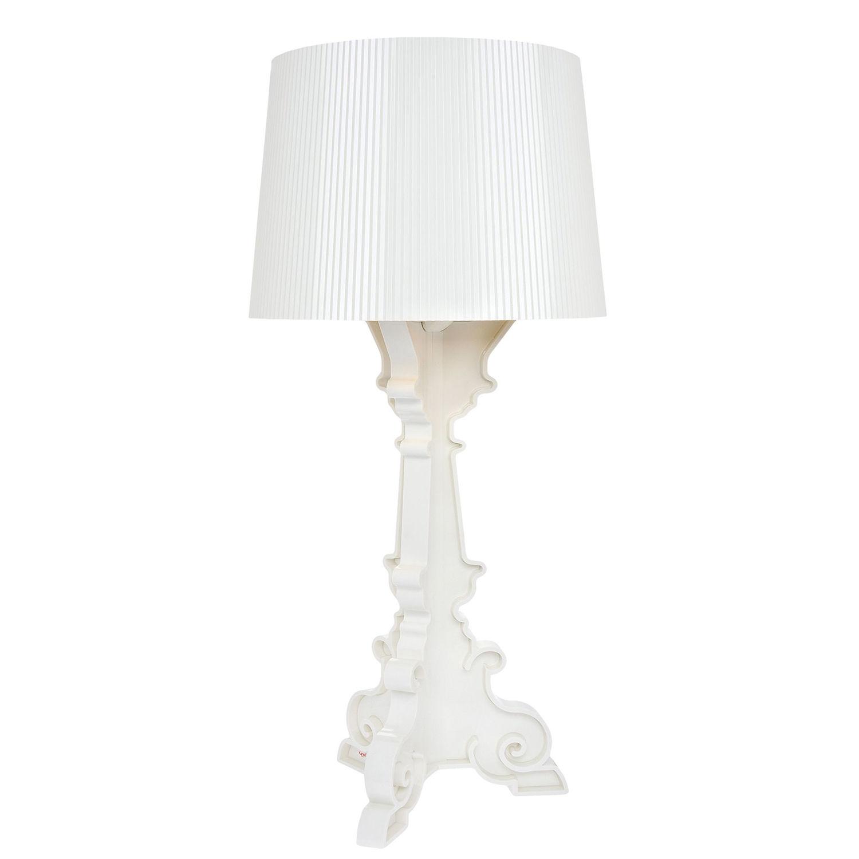Bourgie tafellamp Kartell wit/goud