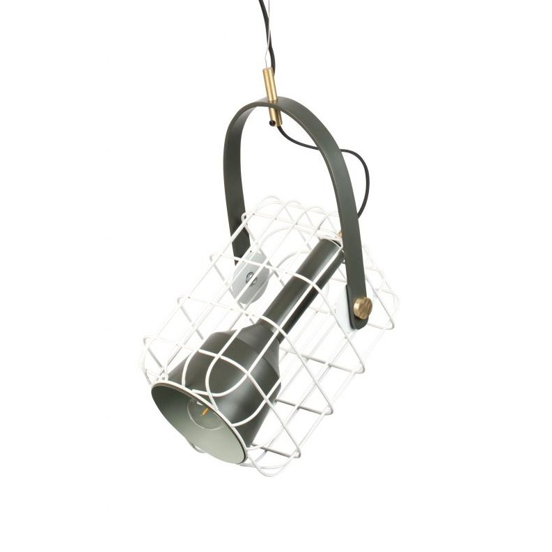 Cage hanglamp Luzo wit