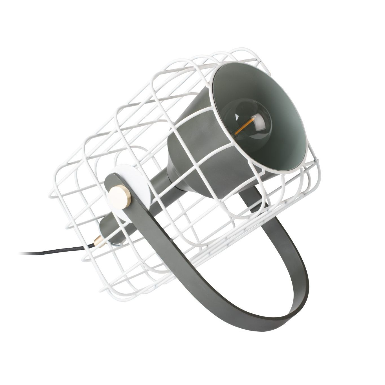 Cage tafellamp Luzo wit