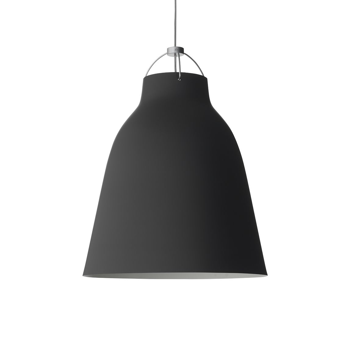 Caravaggio hanglamp Lightyears Ø26 mat zwart