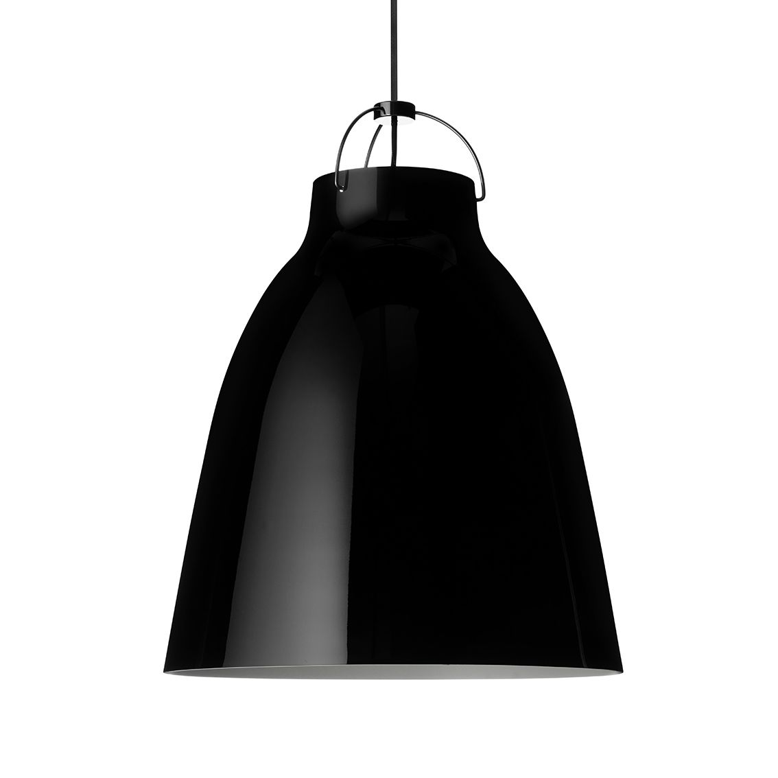 Caravaggio hanglamp Lightyears Ø40 hoogglans zwart