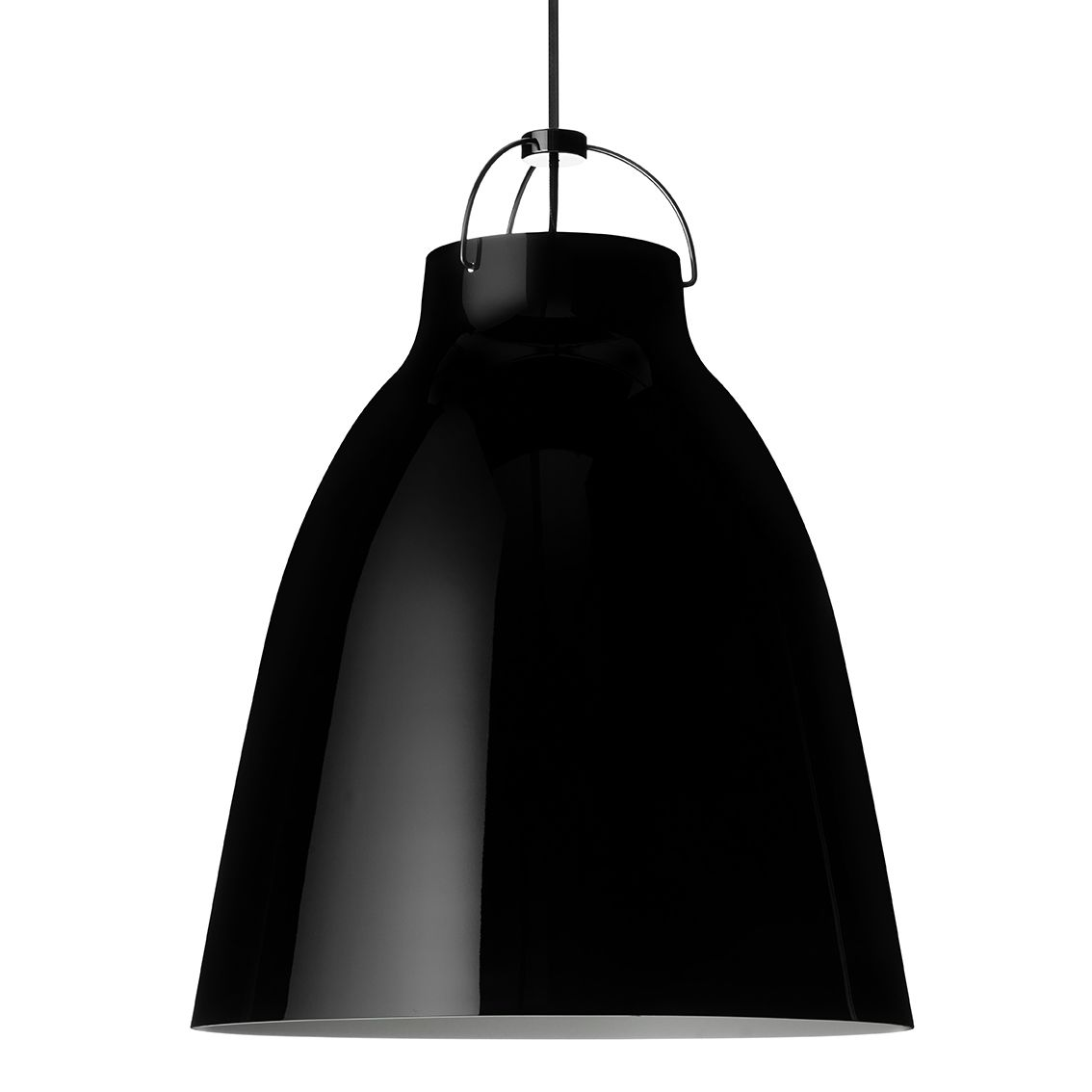Caravaggio hanglamp Lightyears Ø55 hoogglans zwart