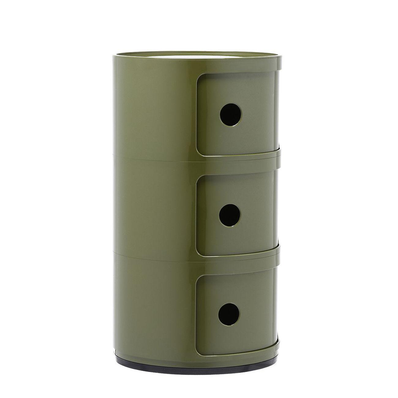 Componibili kast Kartell 3-deurs - groen