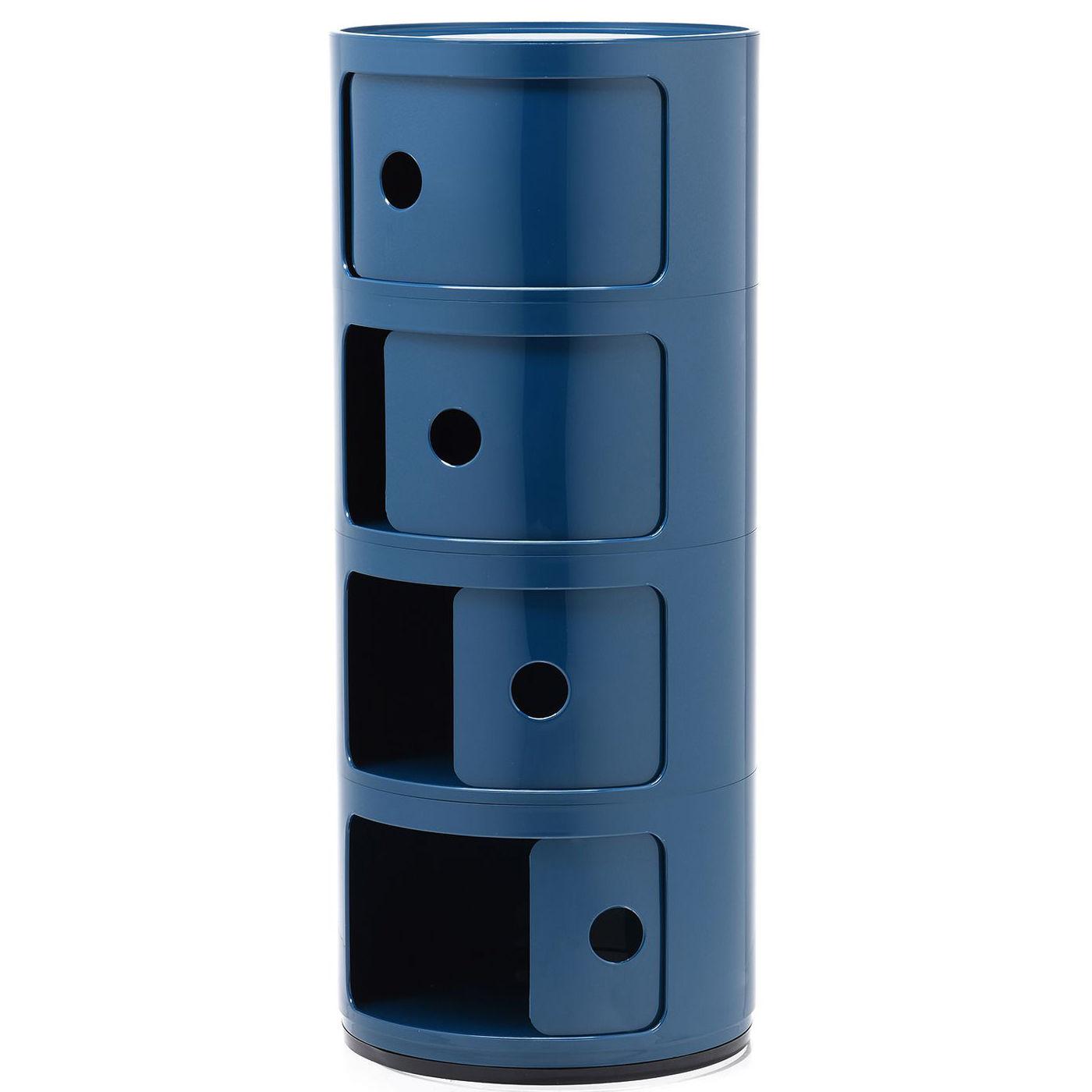 Componibili kast Kartell 4-deurs - blauw