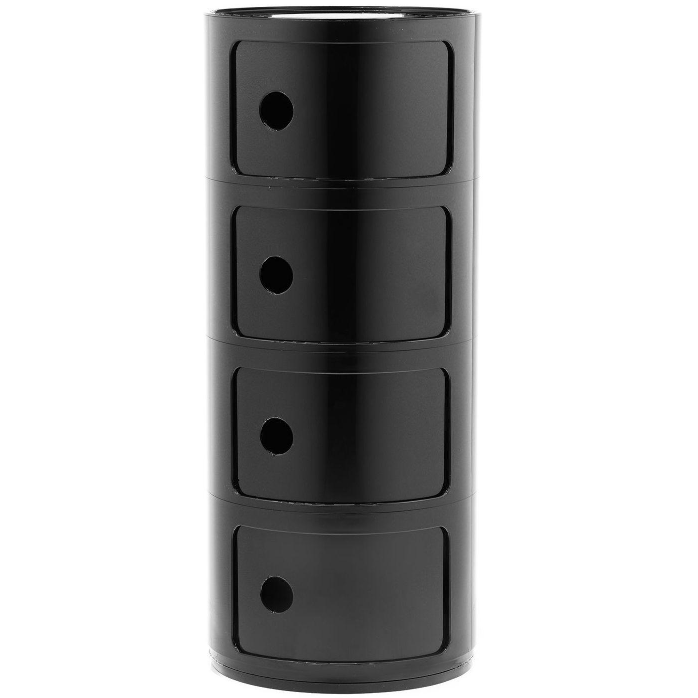 Componibili kast Kartell 4-deurs - zwart