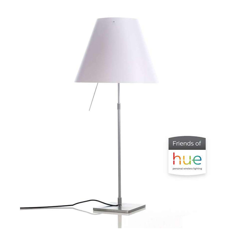 Costanza HUE tafellamp Luceplan aluminium - wit