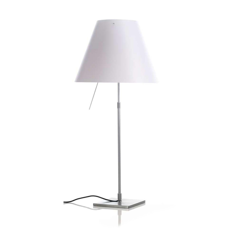 Costanza tafellamp Luceplan aluminium - wit