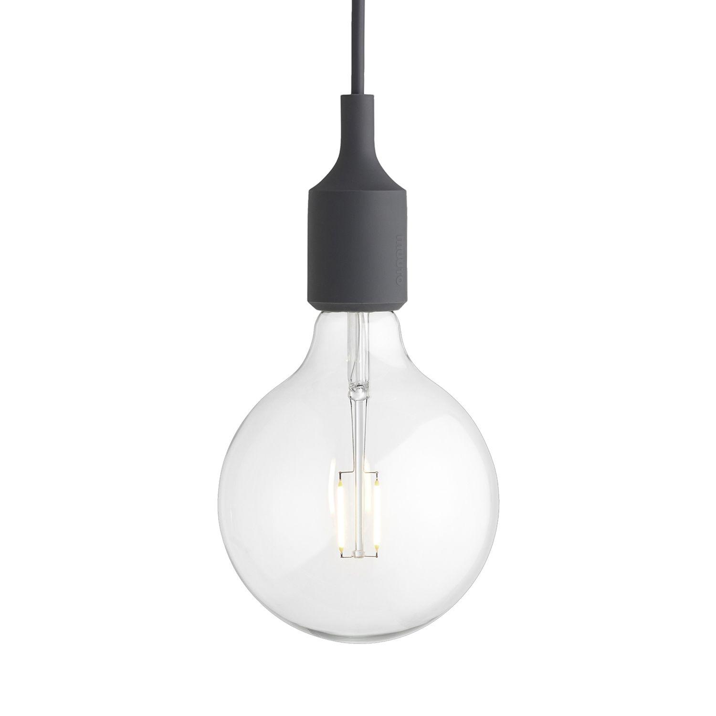 E27 hanglamp Muuto LED - donkergrijs