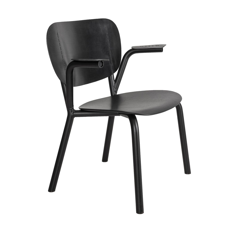 Emil Rosi eetkamerstoel Functionals zwart - zwart met armleuning