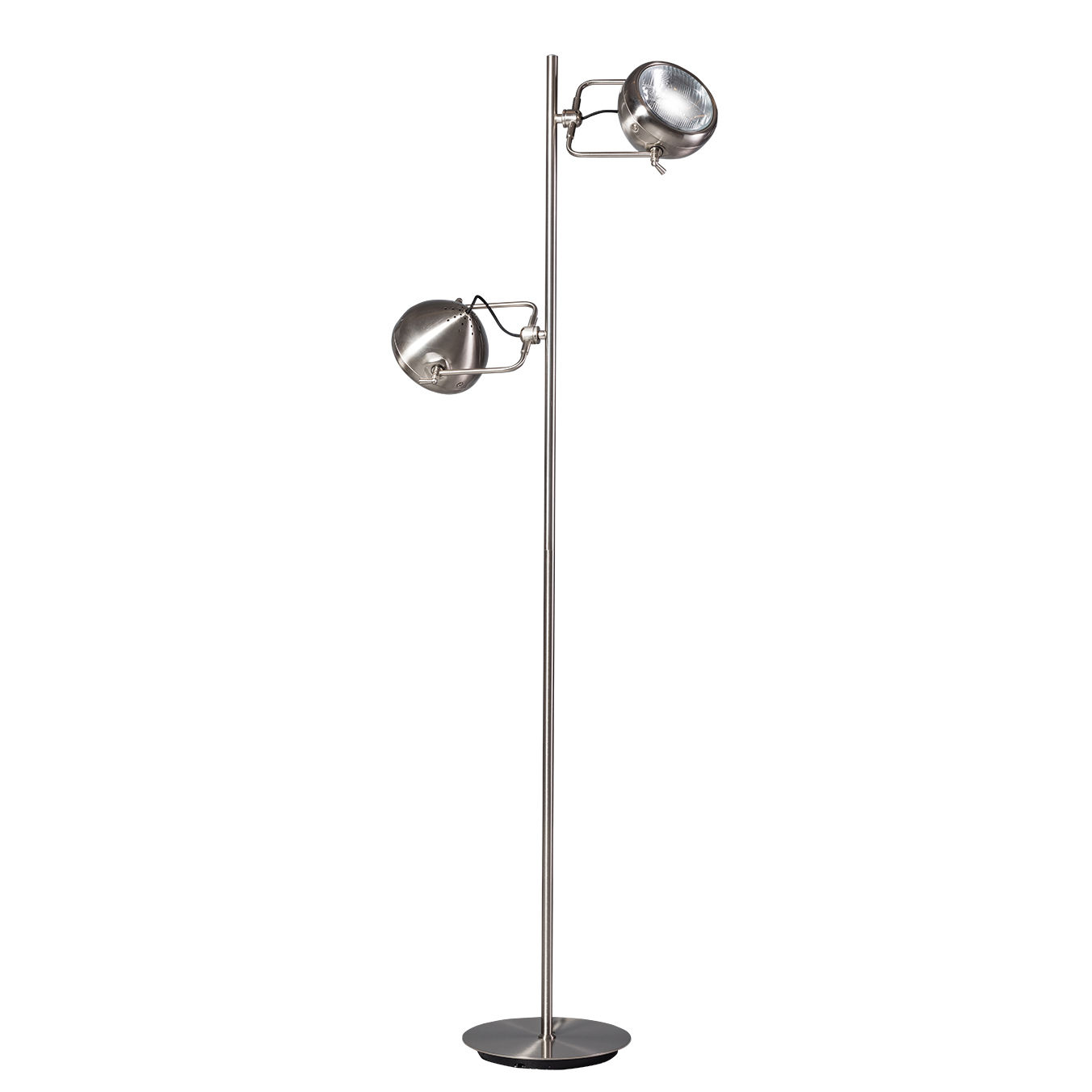 Head 2.0 vloerlamp ETH staal dubbel