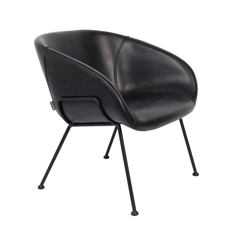 Feston fauteuil Zuiver zwart