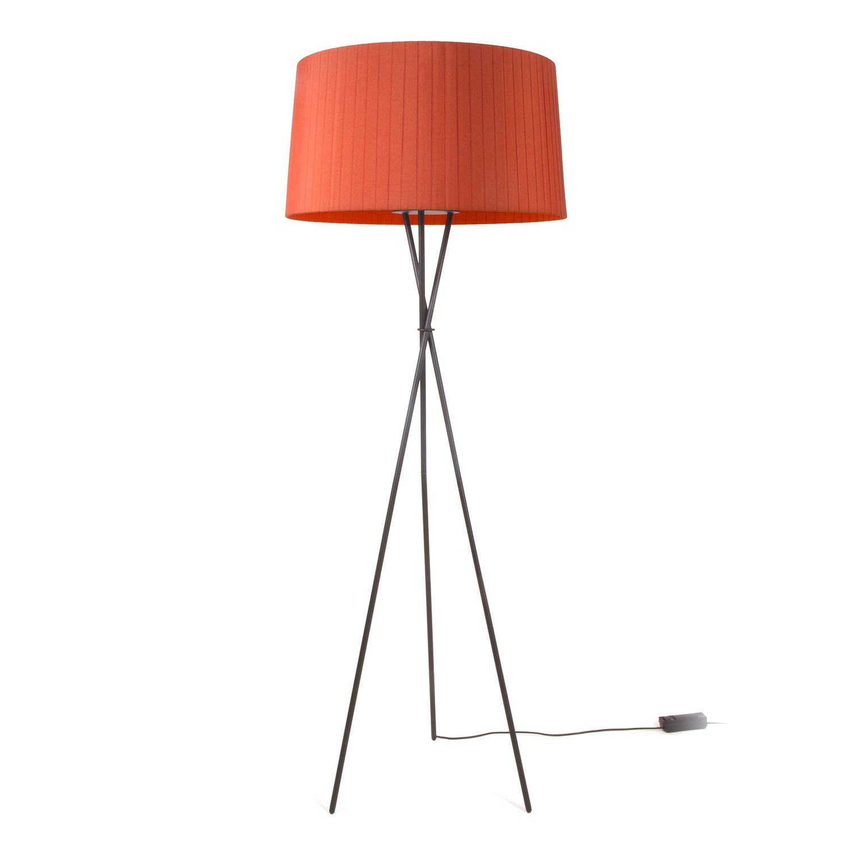 Tripode G5 vloerlamp Santa & Cole rood amber