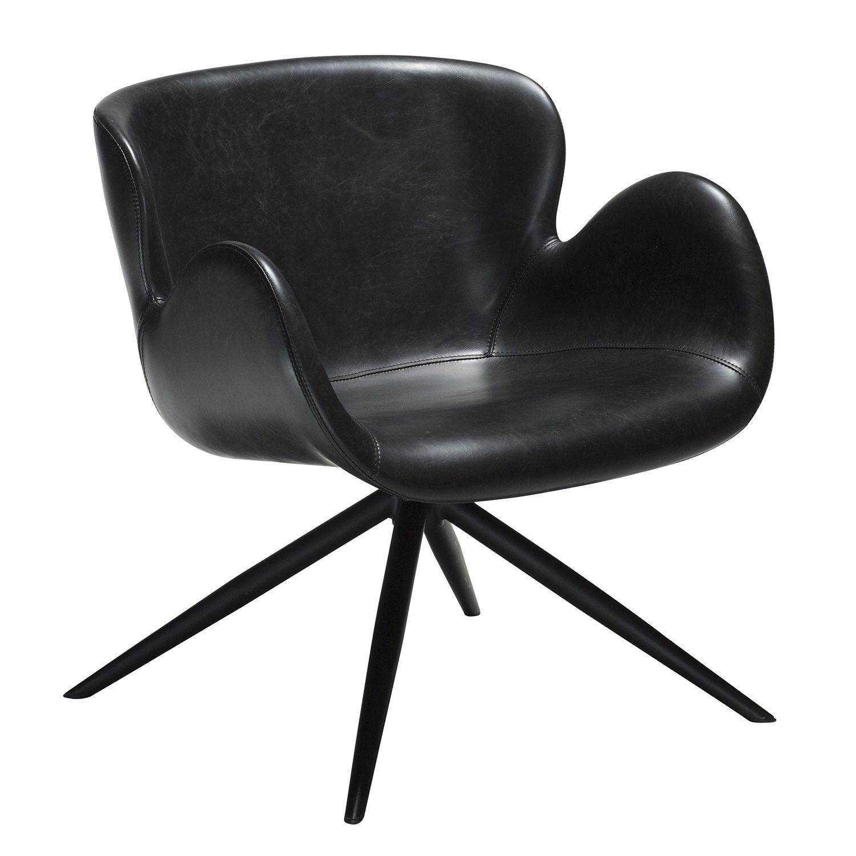 Gaia fauteuil Dan-Form zwart leder