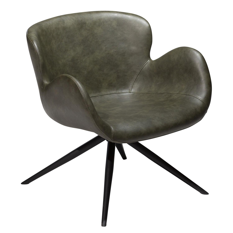 Gaia fauteuil Dan-Form groen leder