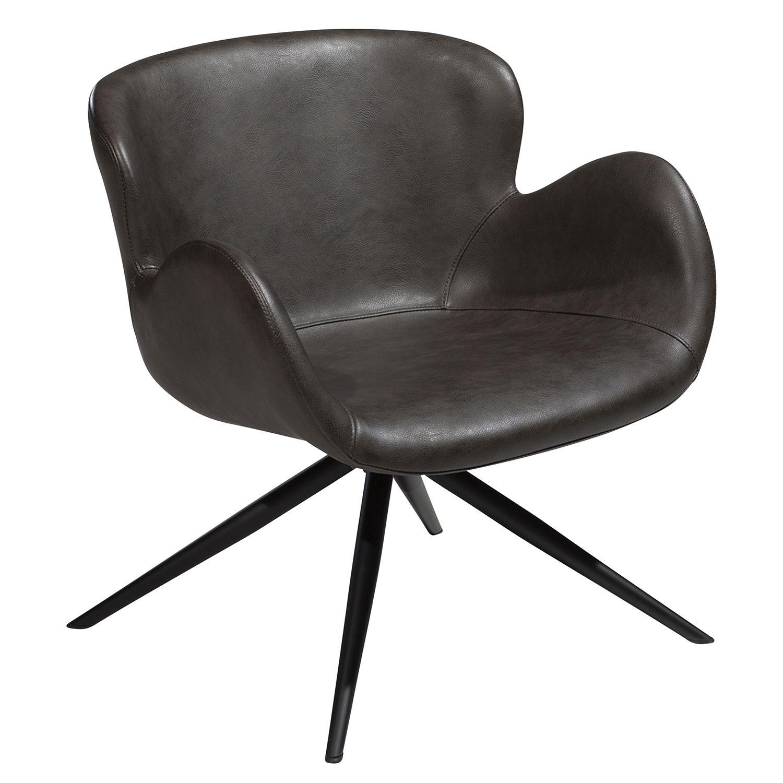 Gaia fauteuil Dan-Form grijs leder