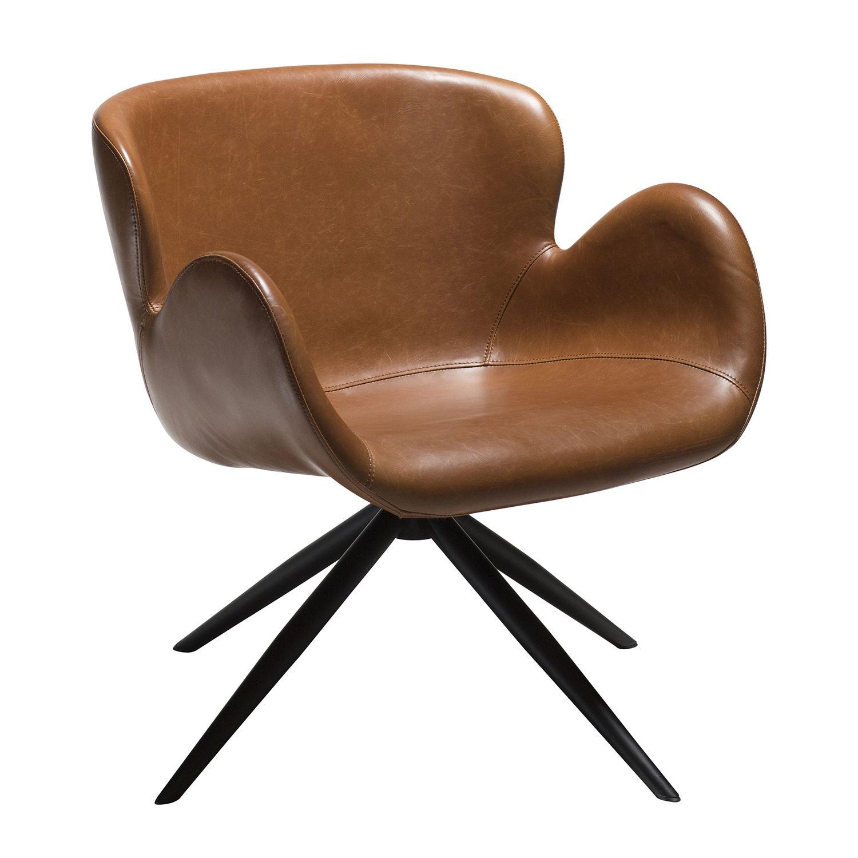 Gaia fauteuil Dan-Form cognac leder