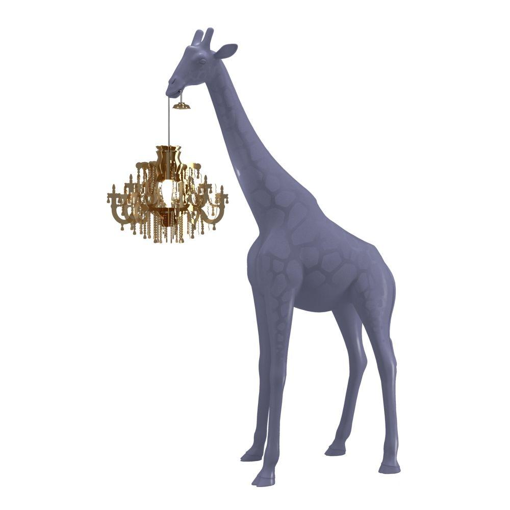Giraffe In Love lamp Qeeboo XS cold sand