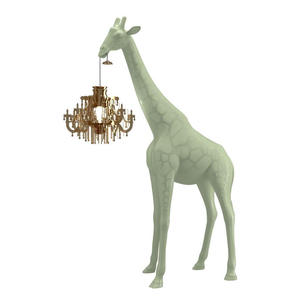 Giraffe In Love lamp Qeeboo XS warm sand