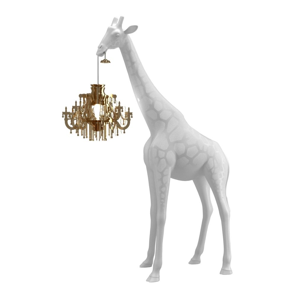 Giraffe In Love lamp Qeeboo XS wit