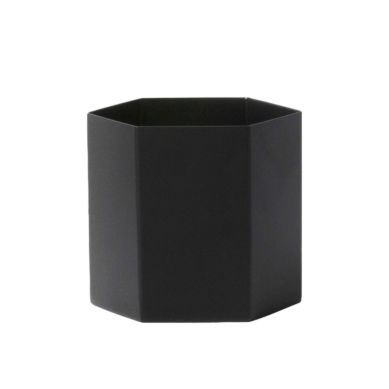 Hexagon plantenpot Ferm Living large zwart