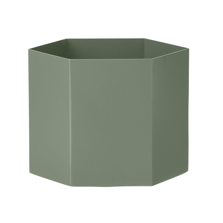 Hexagon plantenpot Ferm Living XL groen