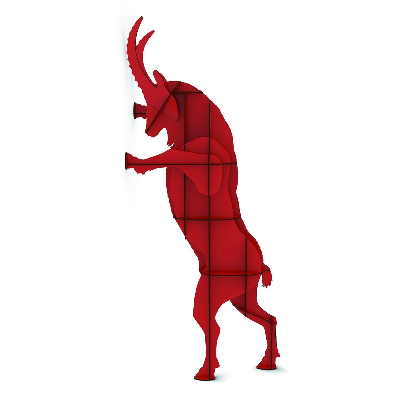 Fausto wandkast Ibride rood