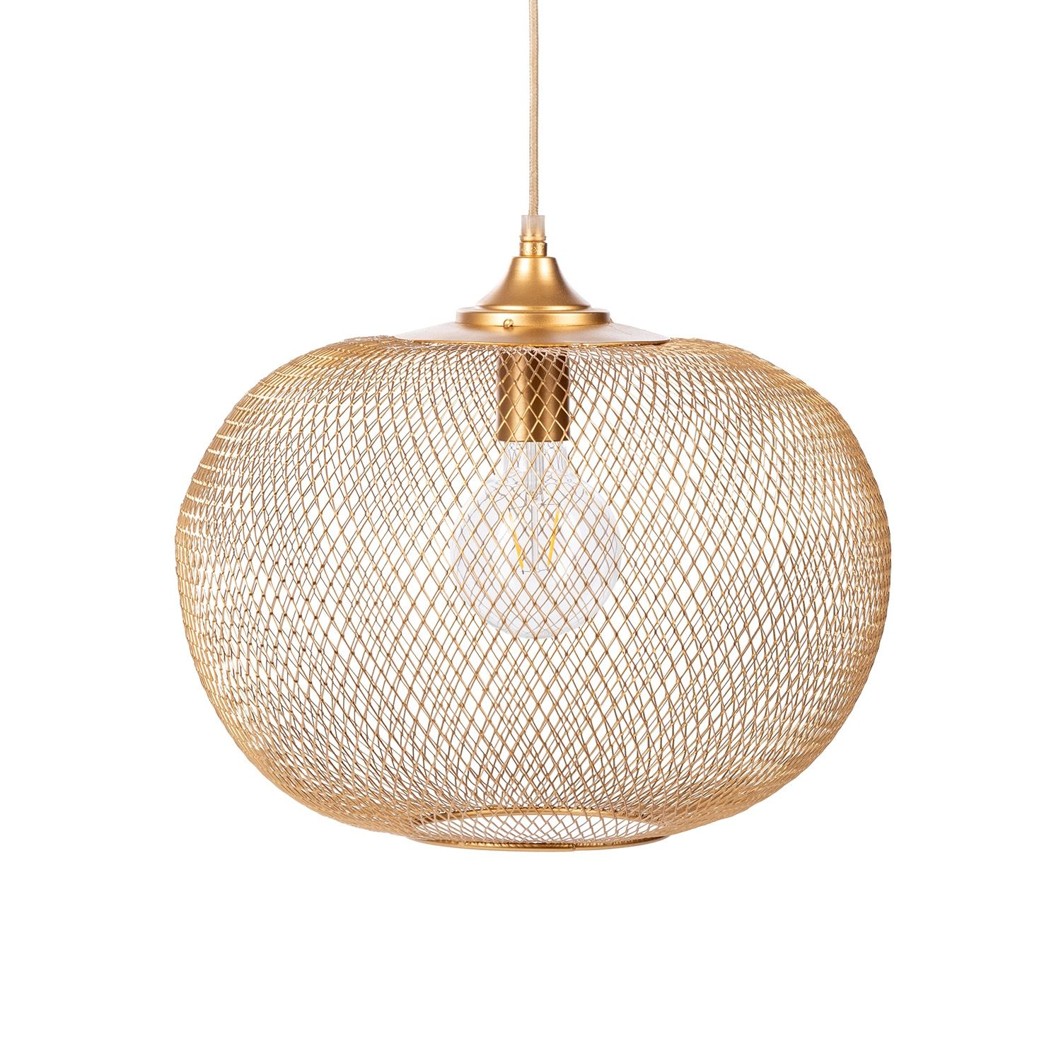 Indy hanglamp Bodilson goud