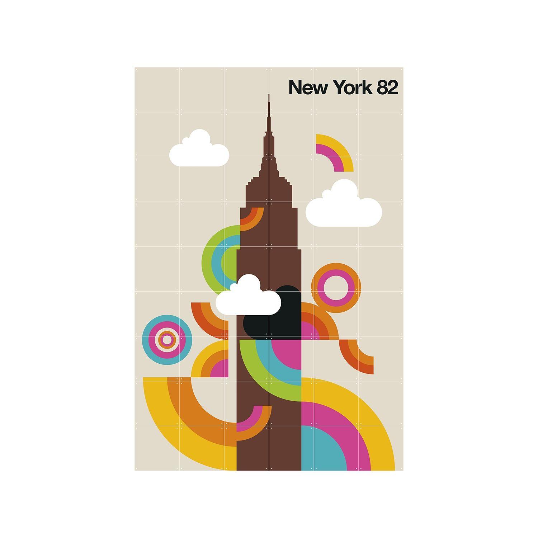 OP = OP - New York 82 wanddecoratie Ixxi 180x120cm