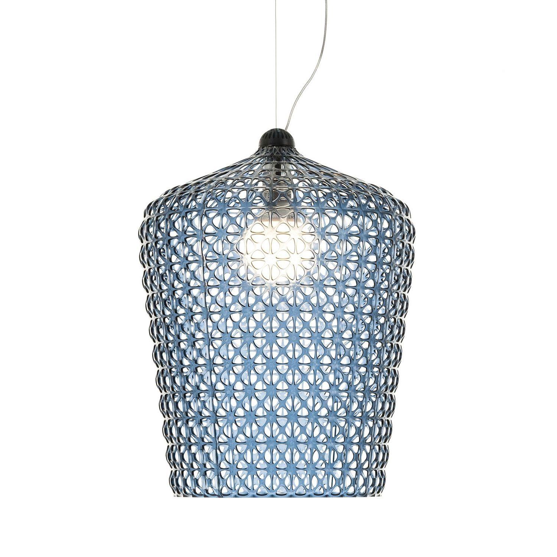Kabuki hanglamp Kartell azuurblauw