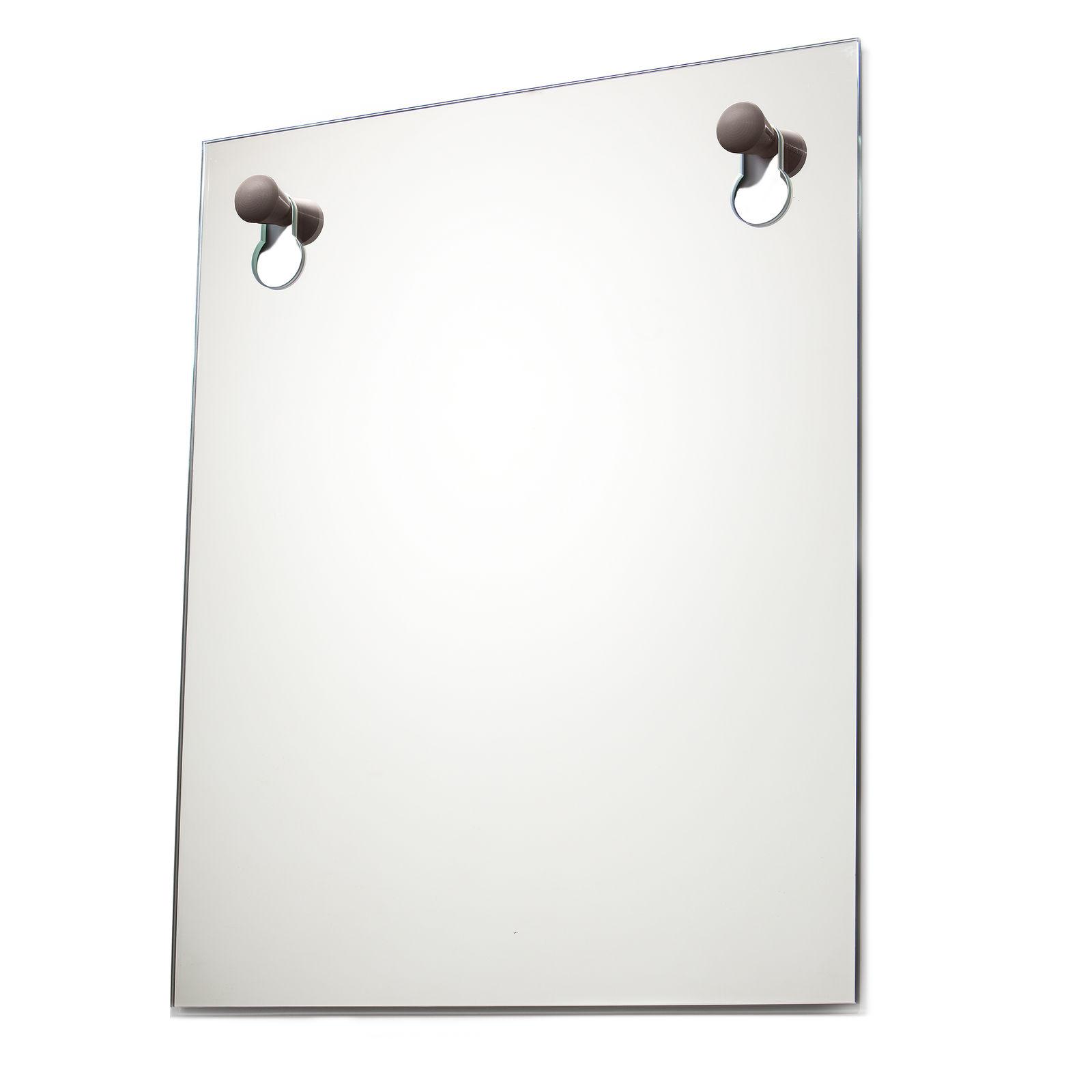 Knobble spiegel Goods bruin groot