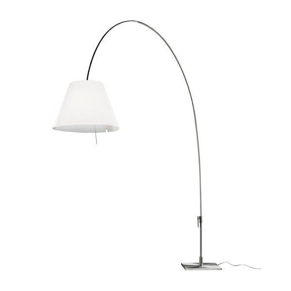 Lady Costanza vloerlamp Luceplan aluminium - wit