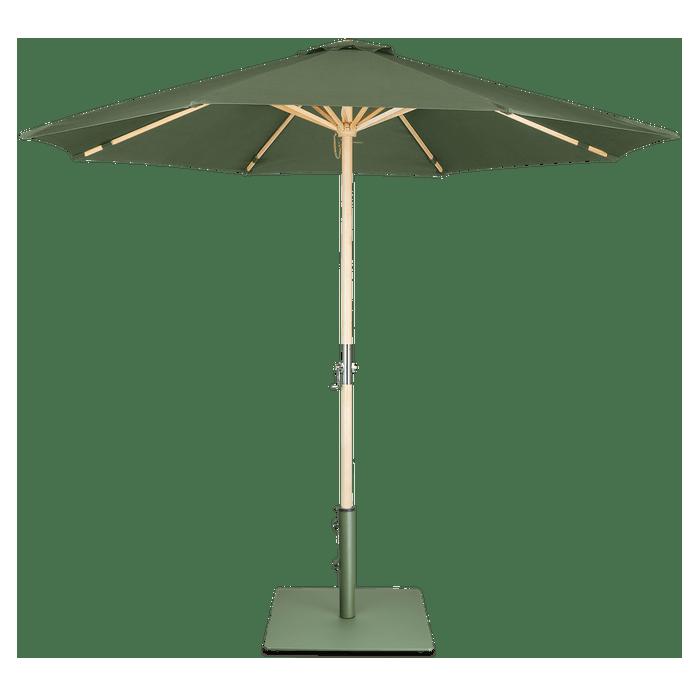 Lucas parasol + Tygo voet Lanterfant - SET - Mosgroen