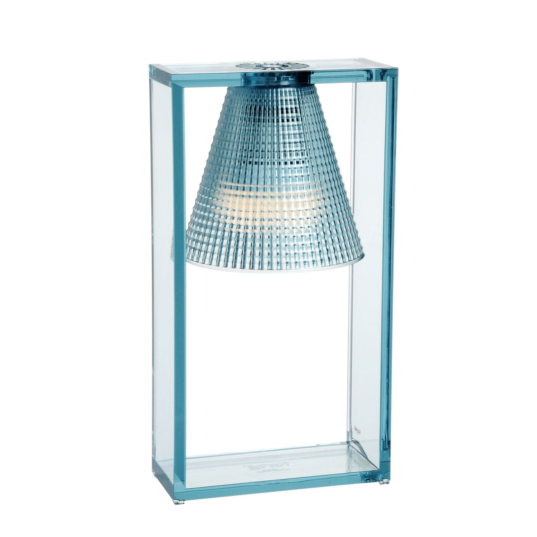 Light Air tafellamp Kartell lichtblauw