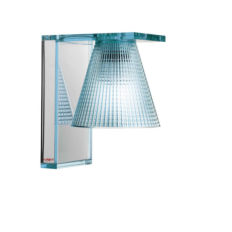 Light Air wandlamp Kartell lichtblauw
