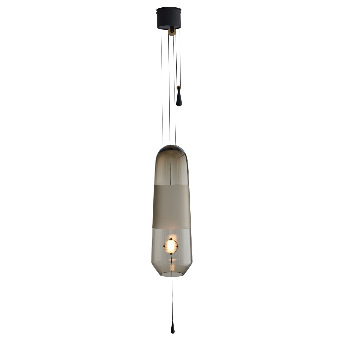 Limpid hanglamp L Hollands Licht gerookt verstelbaar