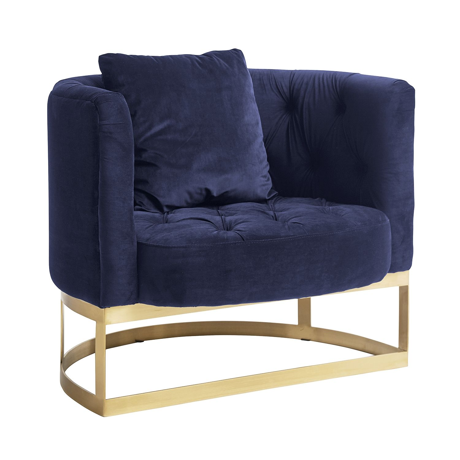 Lounge fauteuil Nordal blauw