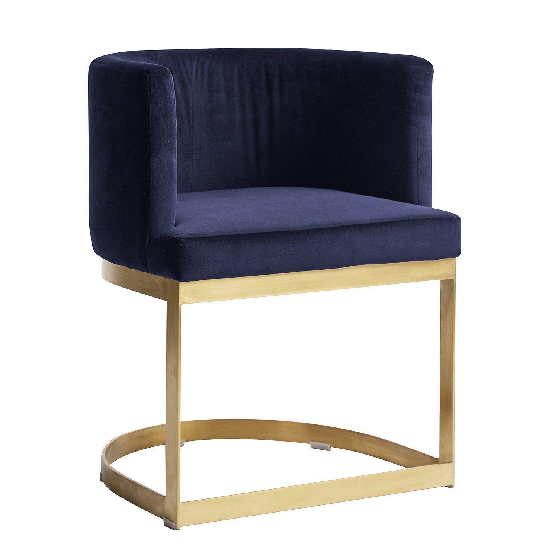 Lounge eetkamerstoel Nordal blauw