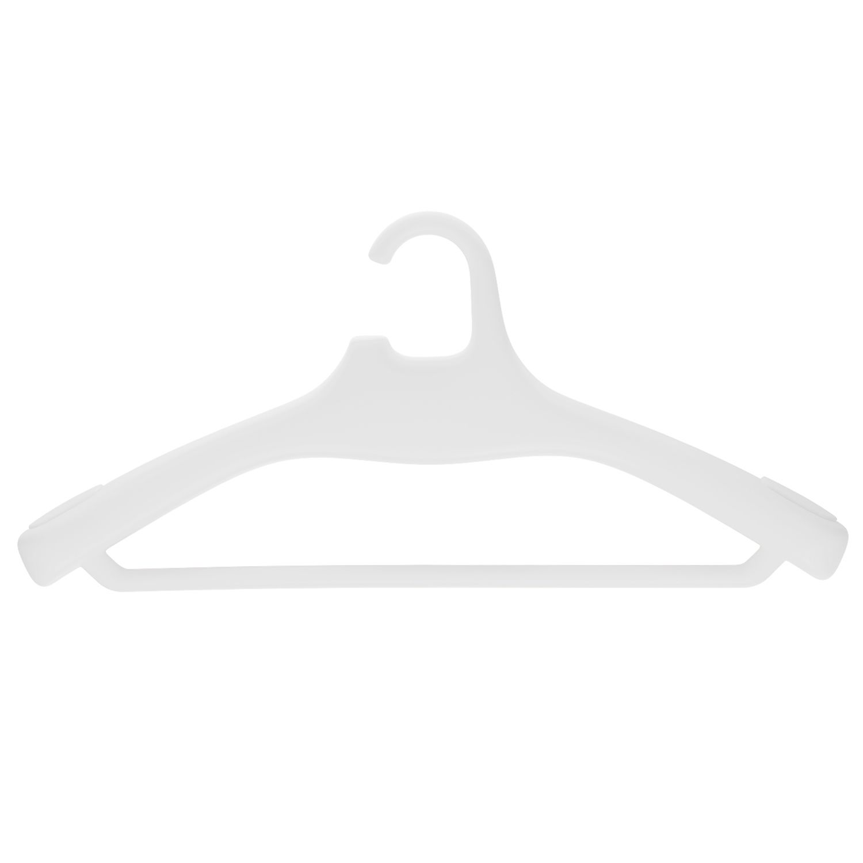Hercules kledinghanger Magis met broeklat set 4 stuks wit