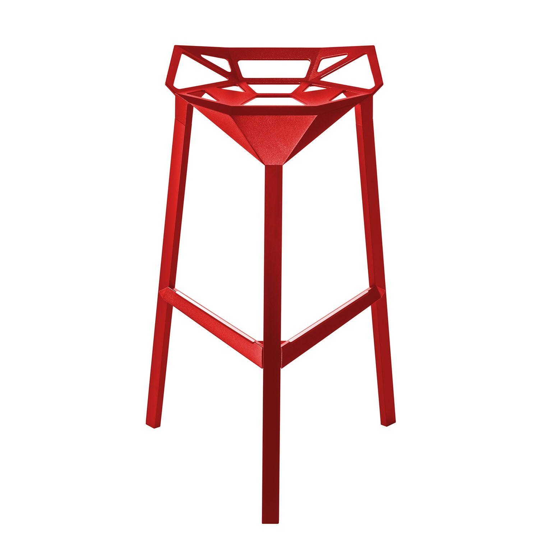 Stool_One barkruk Magis 77cm rood