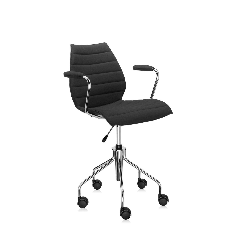 Maui Soft bureaustoel Kartell zwart