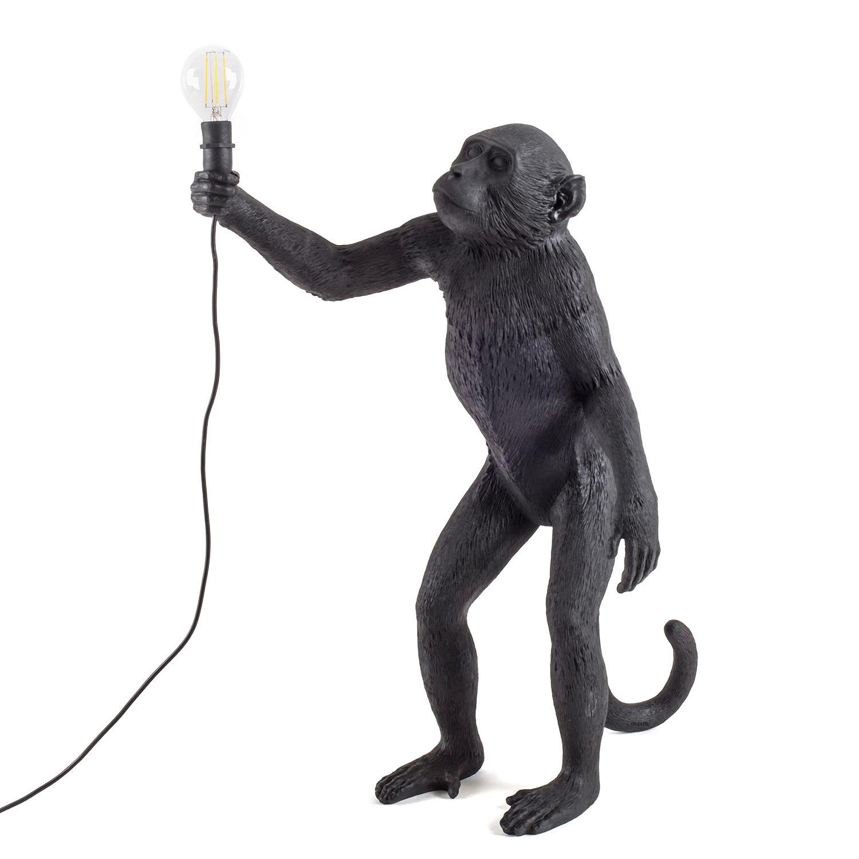 Monkey Outdoor vloerlamp Seletti zwart