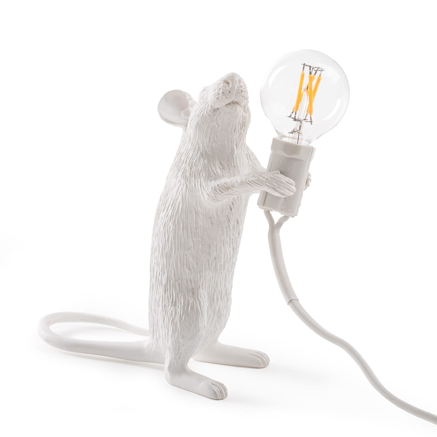 Mouse tafellamp Seletti staand wit