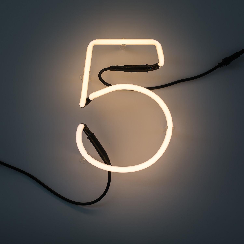 Neon Art cijfer Seletti 5