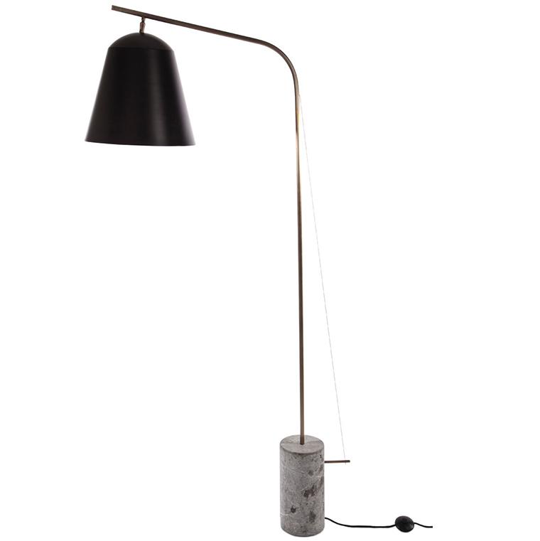 Line Two vloerlamp Norr11 zwart