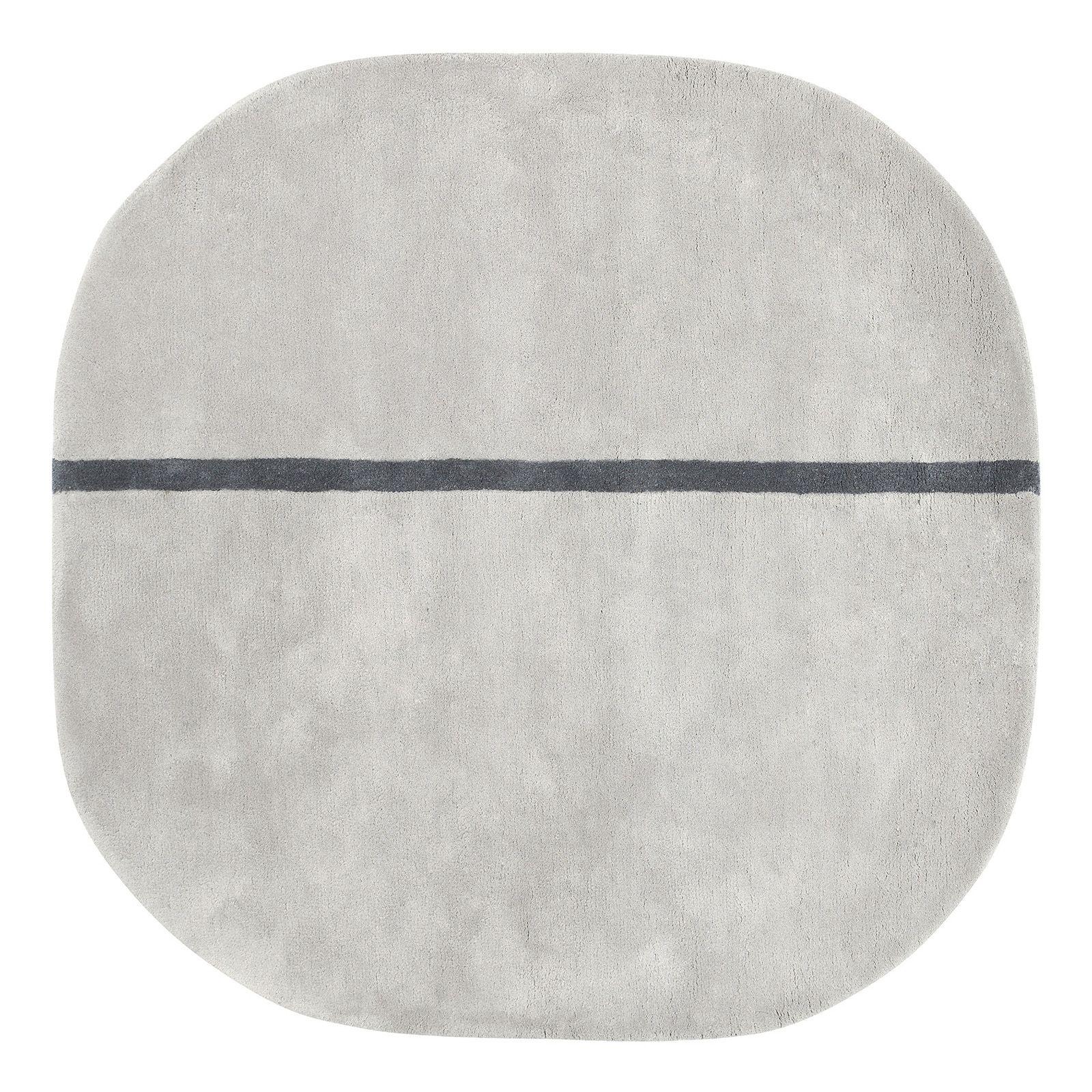 Oona vloerkleed Normann Copenhagen 140x140cm grijs