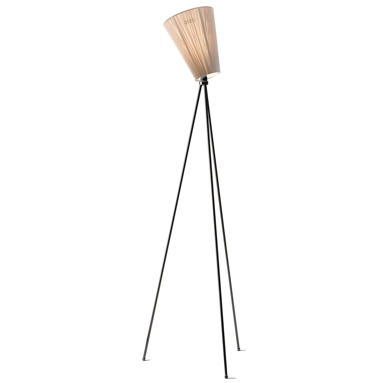 Oslo Wood vloerlamp Northern zwart - beige